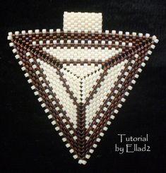 TUTORIAL Peyote Triangle Pendant by Ellad2 on Etsy