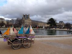 Toys boats park in Paris