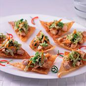 Chopped Chicken Wontons with Asian Style Slaw Chicken Appetizers, Chicken Recipes, Foster Farms, Chicken Wontons, Asian Style, Dips, Favorite Recipes, Snacks, Ethnic Recipes