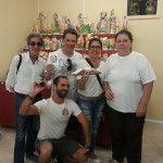 Giant Cannolo with Susan and Marcelus (Brazil) - Pasticceria Rosciglione