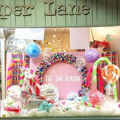 LITTLE PAPER LANE Christmas window display www.littlepaperlane.com.au