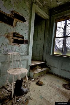 Abandoned Home  -  by Adam Bender (.com), via Flickr. Photo taken on April 18th 2010.   I believe this lonely home is in Canada.   More fascinating photos...click on in....