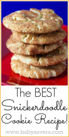 The very BEST recipe for snickerdoodles!
