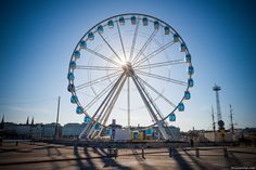 Helsinki, Finland: The new Ferris wheel on the Katajanokka waterfront in the South Harbour.