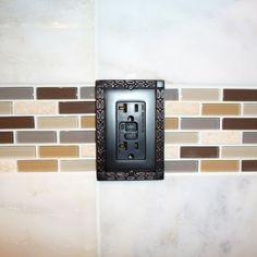 framed electric outlet