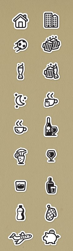 Social Icons on Behance