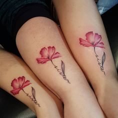 Matching Sister Tattoos #flowers #flowertattoos #sister #sisters #cutetattoos #cute #sistertattoos#sistertattoo #colortattoos #matchingtattoos #girltattoos #girlwithtattoos #girls #matchingtats #tattoos #tattoo #tats #tattooed #art #arte #509 #ink #inkfellas #inkfellastattoos