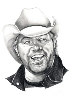 Toby Keith Drawing