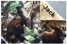 New to Sewdivine77 on Etsy: Personalize Real Tree Camo Animals double layered fleece blanket/throw (55.00 USD)