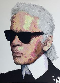 Karl Lagerfeld Painting by Miami artist, Charlie Hanavich. Andy Warhol, Chanel, Karl Lagerfeld Choupette, Fendi, Pop Art, Karl Otto, Art Deco Living Room, Culture Pop, Colossal Art