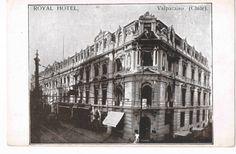 Postal del Hotel Royal, calle Esmeralda.  Año 1910.  Obra del Arquitecto Esteban Harrington  (1873-1936)