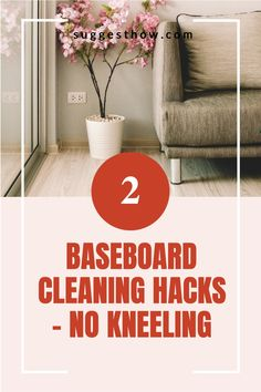 Does the thought of cleaning baseboards hurt your back? How often to clean baseboards anyway? Find out some of the best ways for how to clean baseboards without keeling. #DIYcleaningrecipe #cleaninghacks #cleaningtricks #homehacks #home #homemaintenance #homemaking #homemakingtips #housekeeping #householdhacks Deep Cleaning Tips, Household Cleaning Tips, Cleaning Hacks, Hacks Diy, Home Hacks, Cleaning Baseboards, Homemaking, Housekeeping, Clean House