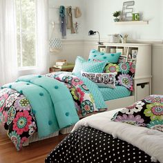 pottery barn camilla floral   Teen Girl Beds