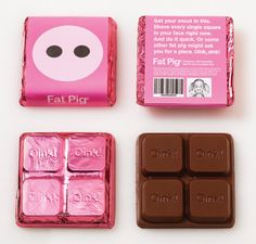 Fat Pig Individual Chocolate by DesignBliss-Flickr, via Flickr