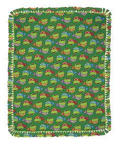 TMNT Turtle Heads No-Sew Fleece Throw Kit
