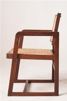 Pierre Jeanneret, PJ-SI-53-A model 'Cane Seat Cane Back Office Chair', Chandigarh, Indien
