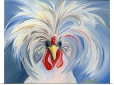 Amy Hautman Premium Thick-Wrap Canvas Wall Art Print entitled No One Takes Me Seriously Rooster Painting, Rooster Art, Chicken Painting, Chicken Art, Funny Chicken, Painting & Drawing, Watercolor Paintings, Diy Painting, Decorative Painting Projects