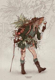 Fantasy Character Design, Character Drawing, Character Design Inspiration, Pretty Art, Cute Art, Dnd Art, Arte Sketchbook, Witch Art, Aesthetic Art