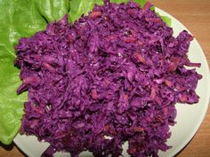Salad from red cabbage