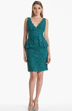 JS Boutique Lace Peplum Sheath Dress available at #Nordstrom