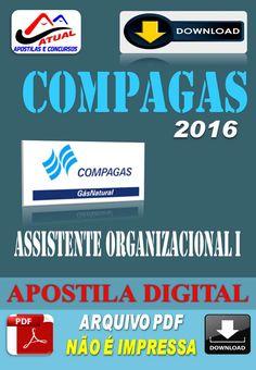 Apostila Digital Concurso Compagas Pr Assistente Organizacional I 2016