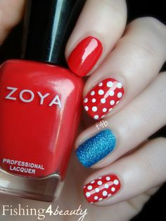 Fishing4Beauty: Thank You... (& a Patriotic Manicure) using @Zoya Zinger Nail Polish