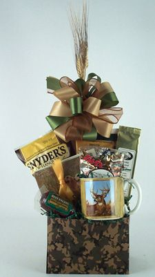 A gift basket for an outdoorsman gift ideas pinterest gift camouflage hunting or fishing gift box stocking or easter basket negle Choice Image