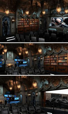 Batman-Themed-Home-Theater - very gothic!