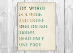 travel paper decorations | Travel Quote Vintage Map Art Print - Travel Nursery Decor - Mixed ...
