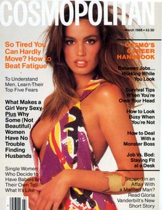 Cindy Crawford Cosmo Cover 1988