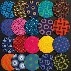 pocket mirrors covered in different South African shweshwe fabrics African Fabric, Mirrors, Wax, Forget, Fabrics, Book, Tejidos, Mirror, Livres