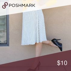 White and black polka dot skirt Adorable and comfy polka dot skirt DownEast Skirts Midi