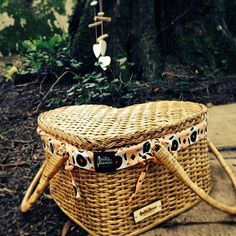 Heart basket in the woods