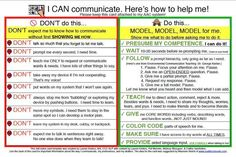 """From Lauren Enders: This is a 4x6"""" printable AAC Implementation card to ATTACH to AAC SYSTEMS. It comes from the perspective of the AAC user. This card prints nicely on 4x6 cards or 4x6 photo paper. Laminate with stiff laminate."""