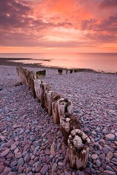 Bossington Beach, Exmoor, England