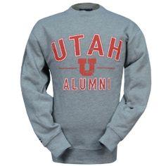 Utah Utes Block U Alumni Sweatshirt available at The Utah RedZone. #utahutes #universityofutahalumni