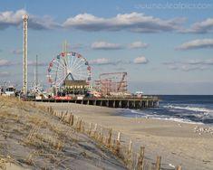 Seaside Park Boardwalk  Funtown Pier Roller Coaster by NewLeafPics, $25.00