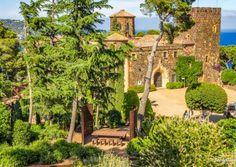 Jardín botánico de Cap Roig - Vista plaça del Castell
