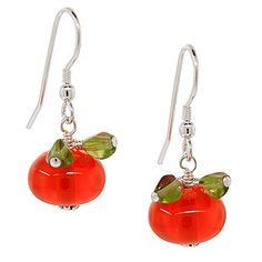 Perfectly Pumpkin Earrings   Fusion Beads Inspiration Gallery