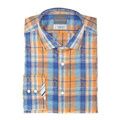 Thomas Dean Co. | Aqua Plaid With Tonal Paisley Button Down Shirt $110.00 #18