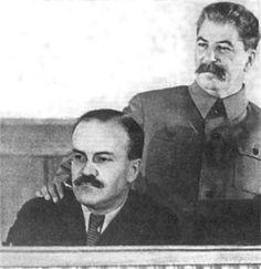 GREAT STALIN - SOVIET UNION. Joseph Stalin con Viacheslav Molotov.http://www.encyclopediaofukraine.com/ in
