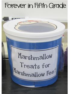 Forever in Fifth Grade: Five For Friday Marshmallow Treats for Marshmallow Feet