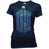 Doctor Who: Words Logo Juniors T-Shirt