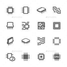 Chips and Microscheme Icons #design Download: http://graphicriver.net/item/chips-and-microscheme-icons/11103617?ref=ksioks