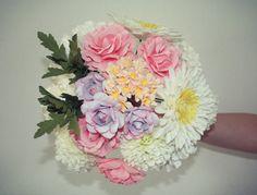 Vogue  Paper Flower Bouquet  Wedding Bouquet by MaisonGregoria