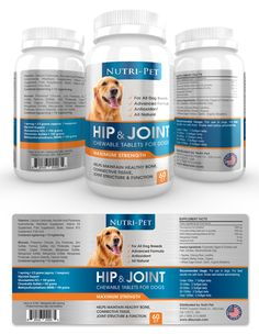 Pet Hip & Joint Supplement Label Template http://www.dlayouts.com/template/834/pet-hip-joint-supplement-label-template
