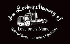 """In Loving Memory Of Dad Large 10/"""" Deer Buck Doe Decal Window Custom Memorial car"""