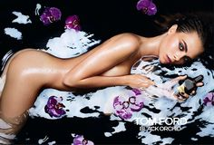 Cara Delevingne's Tom Ford Ad for the fragrance Black Orchard, which is being banned from schools in the UK.