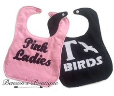 Grease Baby Bibs baby shower gift sale baby by BensonsBoutique  #greaseforever #pinkladies