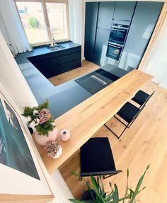 306 likes, 9 comments – Hy, I'm d 'Vroni 👋 ( on … Open Plan Kitchen Living Room, Kitchen Room Design, Modern Kitchen Design, Interior Design Kitchen, Modern Interior, Casa Milano, Cuisines Design, Küchen Design, Apartment Design